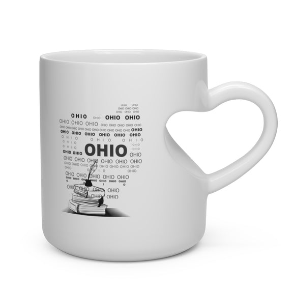 Heart Shape Mug Author State Ohio