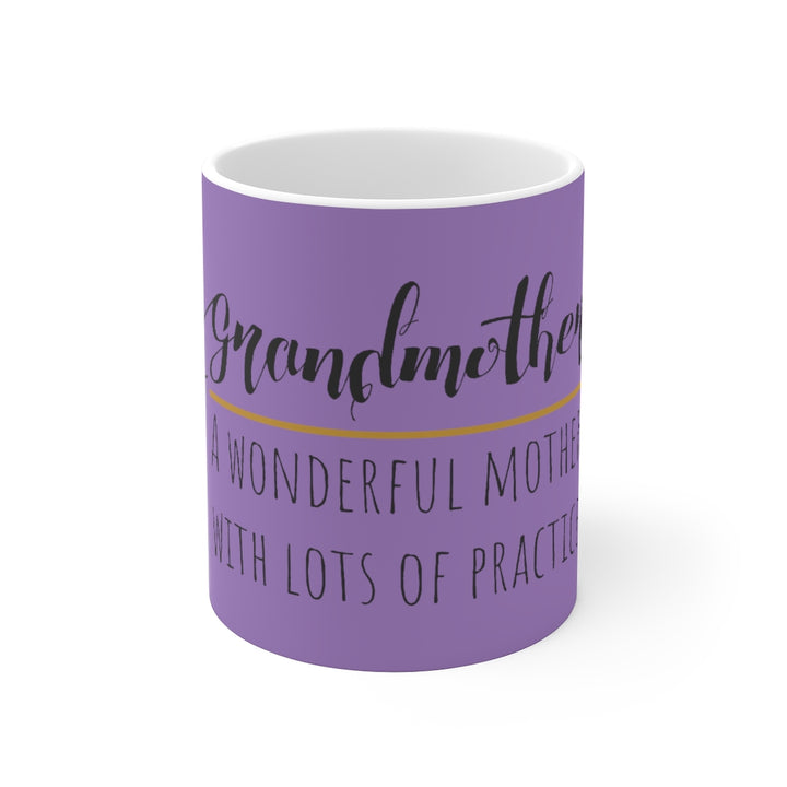 White Ceramic Mug-Grandmother