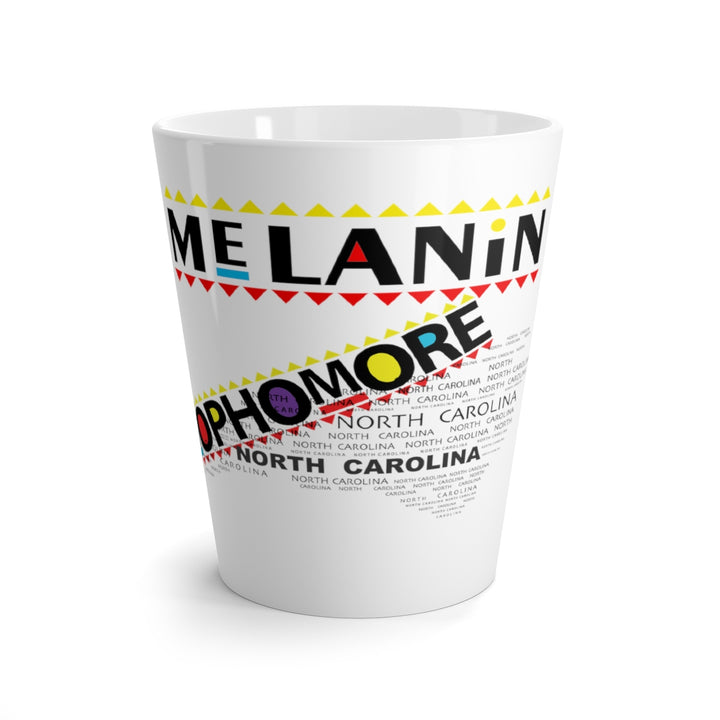 Latte mug Melanin State North Carolina Sophomore