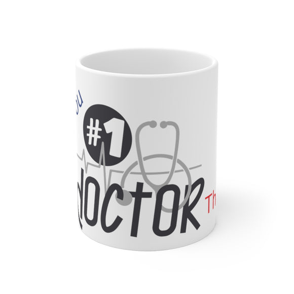 White Ceramic Mug-Doctor Thank You