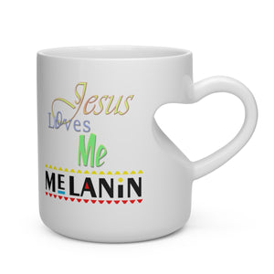 Heart Shape Mug Jesus Loves Me Melanin