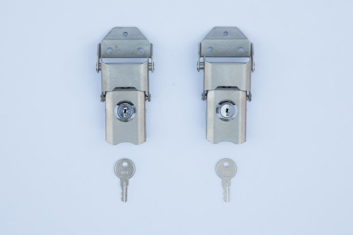 Lid Lock and Strike Plate Stainless Steel