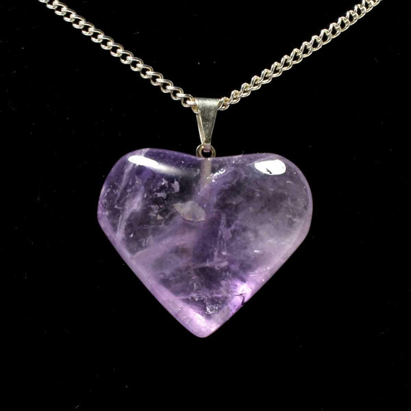 Amethyst Heart Pendant with Chain