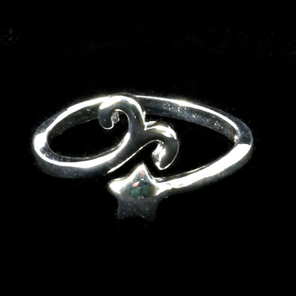 Aries Zodiac Silver Ring