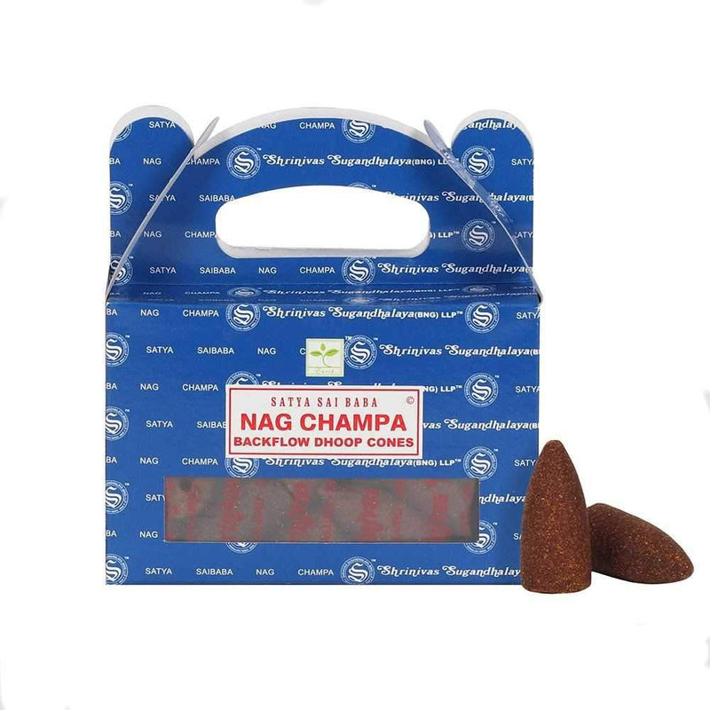 Nag Champa - Satya Backflow Incense Cones
