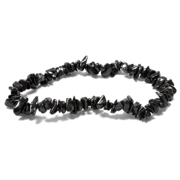 Black Tourmaline Stone Chip Bracelet