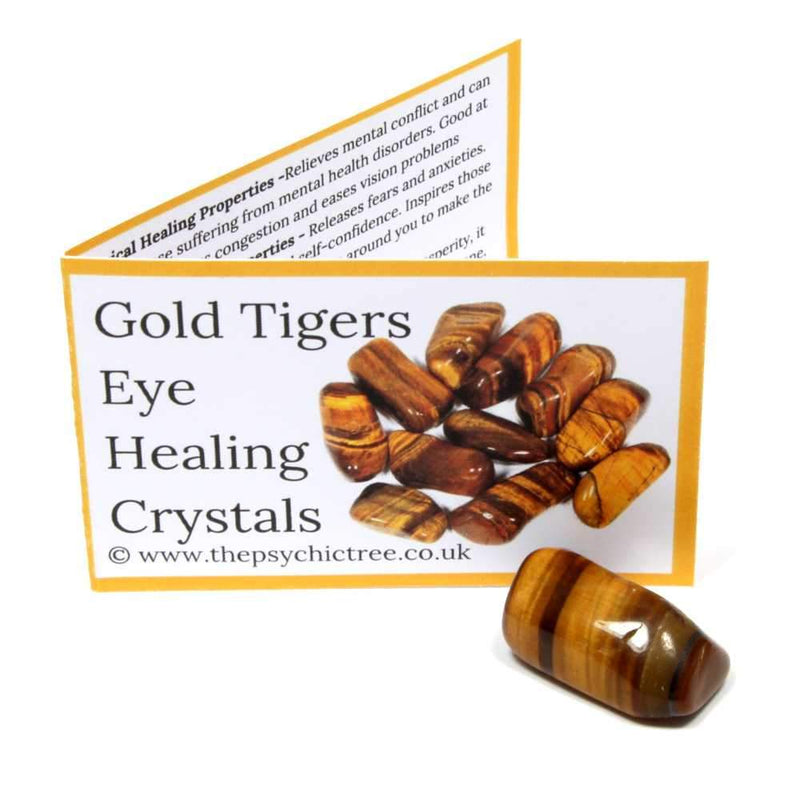 Gold Tigers Eye Polished Tumblestone Healing Crystals