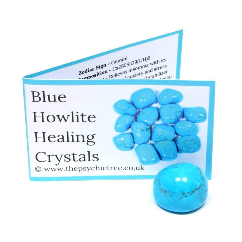 Blue Howlite Crystal & Guide Pack