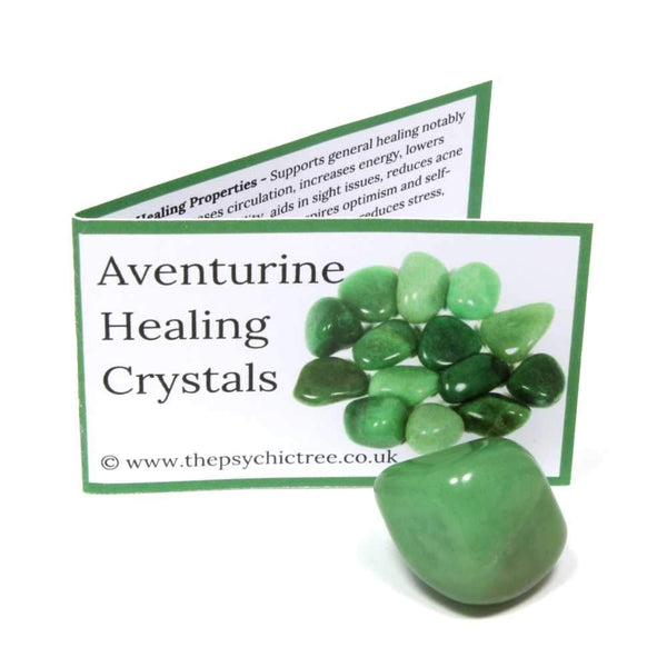 Green Aventurine Crystal & Guide Pack