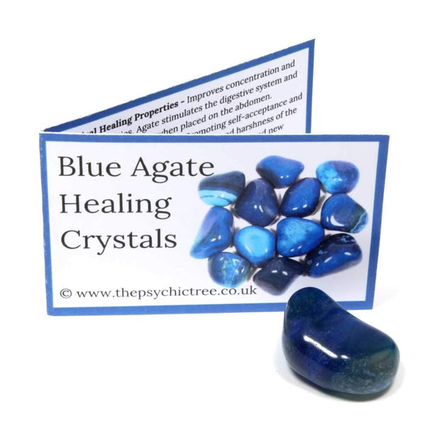 Blue Agate Crystal & Guide Pack