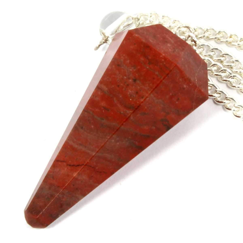 Red Jasper Faceted Cone Pendulum