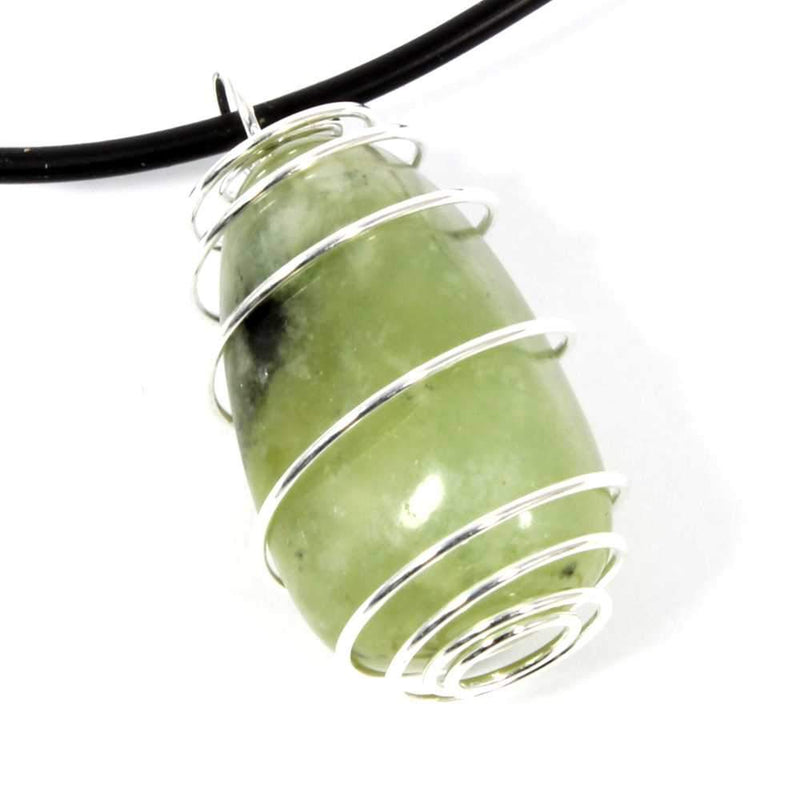 New Jade Wire Wrapped Necklace