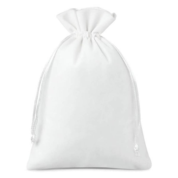 Large Velvet Bag (15x20cm) - White