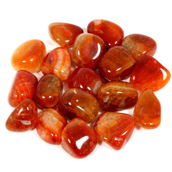 Fire Agate Polished Tumblestone Healing Crystals