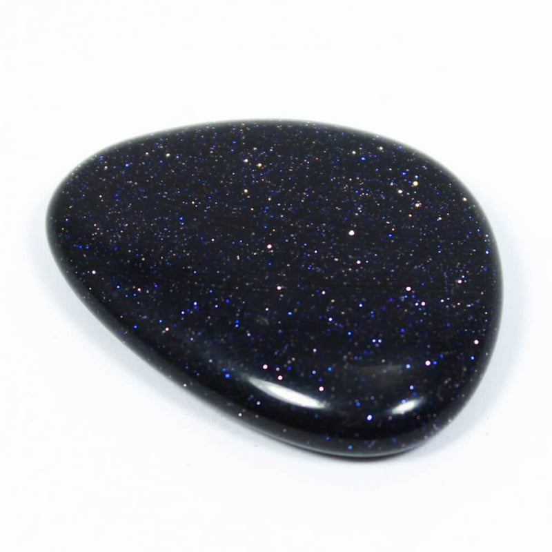 Blue Goldstone Thumb Stone
