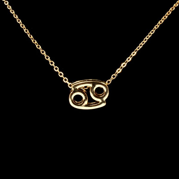 Cancer Zodiac Gold Necklace