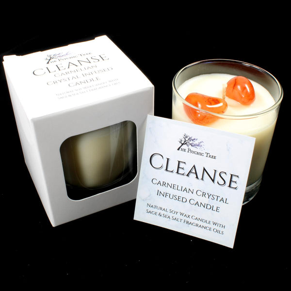 Cleanse - Crystal Infused Scented Candle