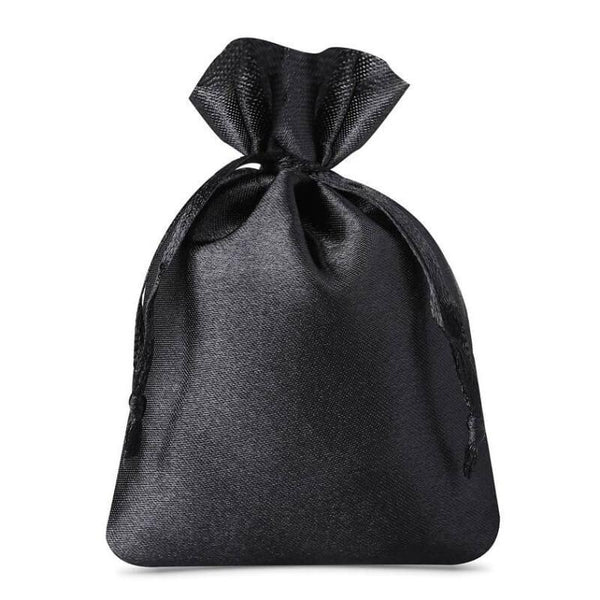 Satin Bag 10 x 13cm - Black