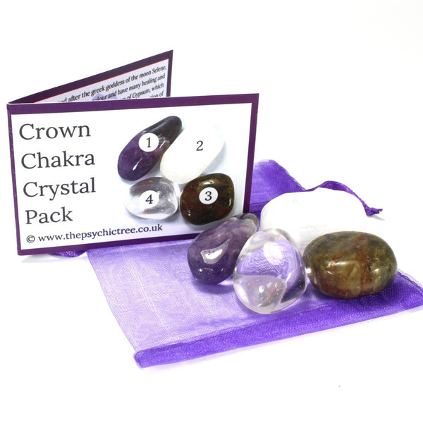 Crown Chakra Healing Crystal Pack
