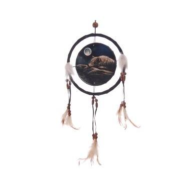 Quiet Night of the Wolf Dreamcatcher By Lisa Parker (16cm)