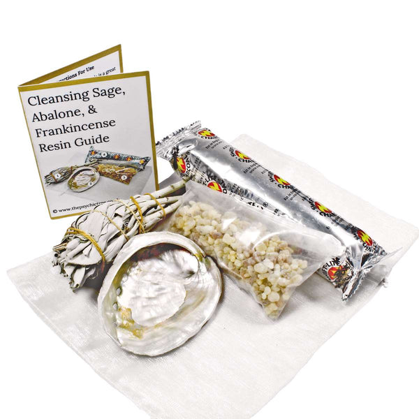 Cleansing Sage, Abalone & Frankincense Resin Pack