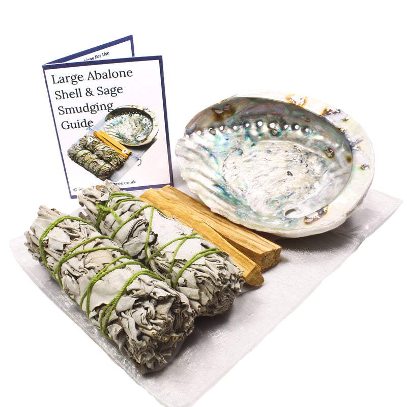 Large Abalone Shell and Sage Smudge Kit