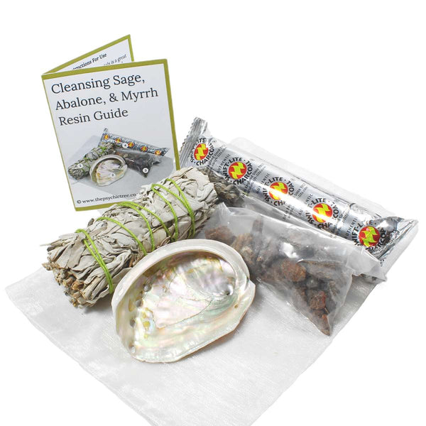 Cleansing Sage, Abalone & Myrrh Resin Pack