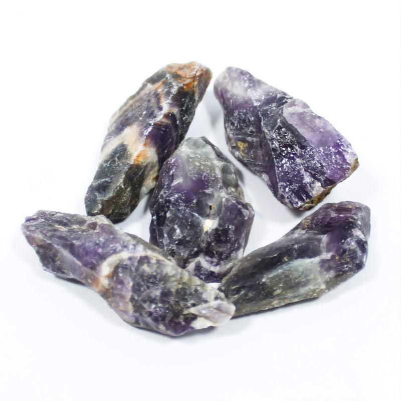Chevron Amethyst Rough Crystals
