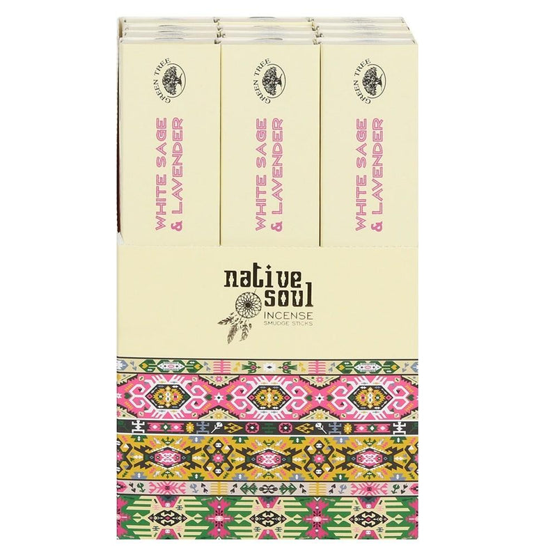White Sage & Lavender - Native Soul Incense Sticks