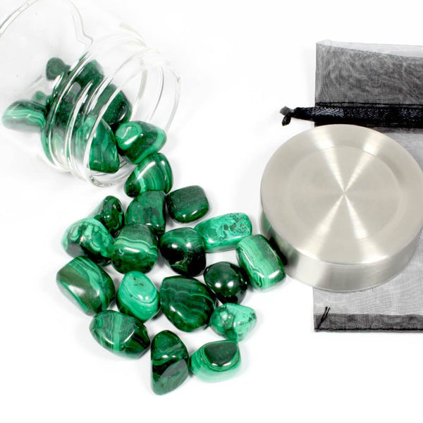 Crystal Water Bottle Pack - Malachite for Personal Growth