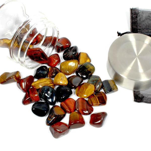 Crystal Water Bottle Pack - Mixed Tigers Eye for Decision Making