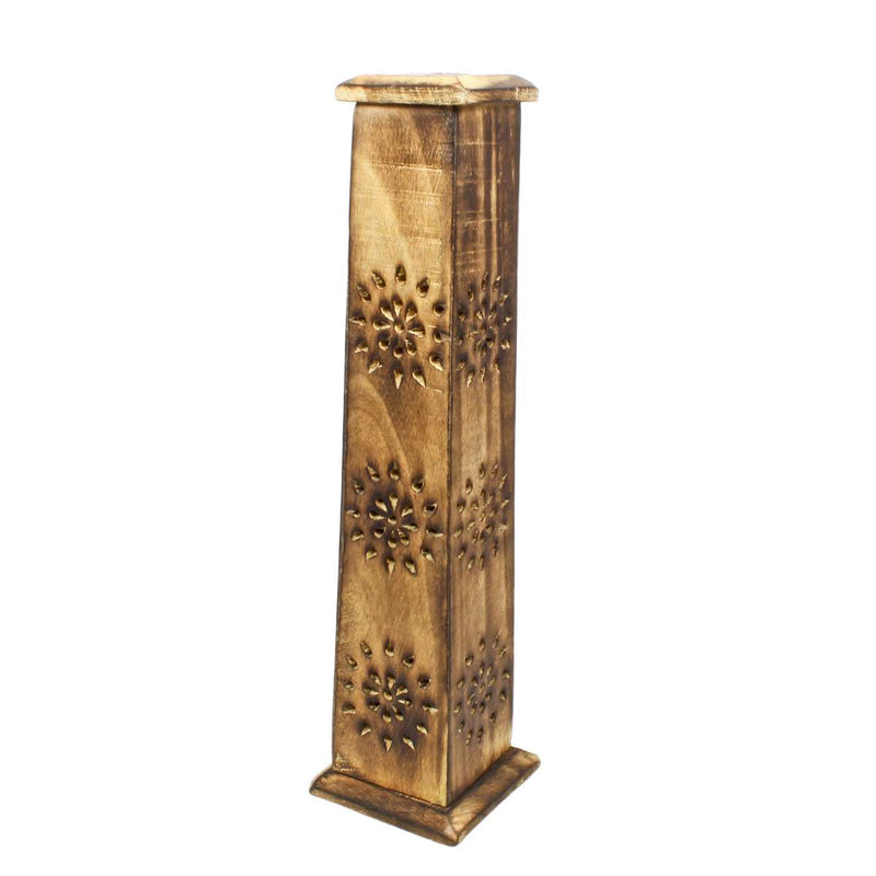 Mango Wood Incense Square Tower Box