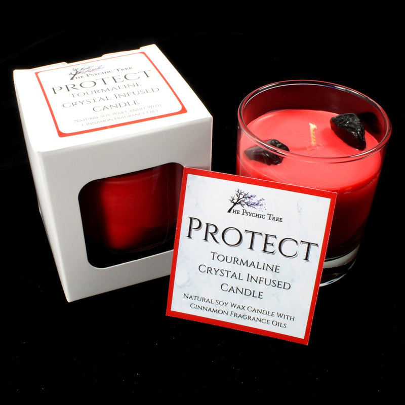 Protect - Crystal Infused Scented Candle