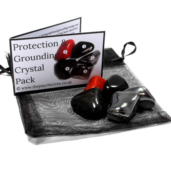 Protection & Grounding Healing Crystal Pack