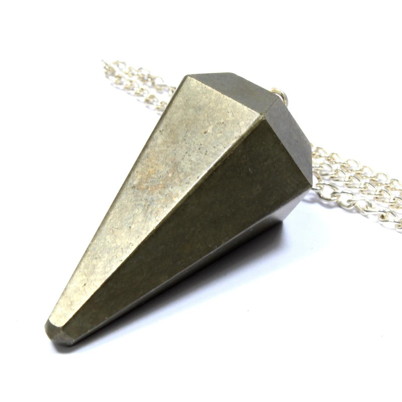 Pyrite Faceted Cone Pendulum
