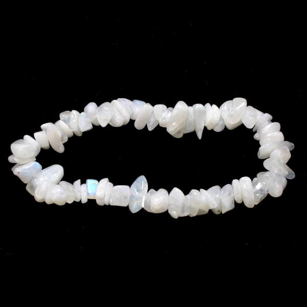 Rainbow Moonstone Stone Chip Bracelet