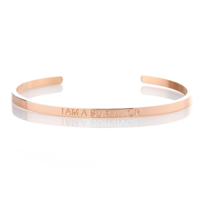 I Am A Survivor - Rose Gold Affirmation Bracelet