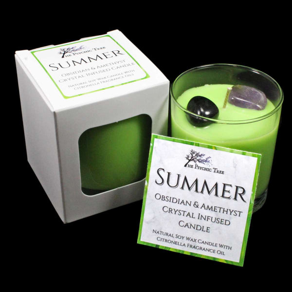 Summer - Crystal Infused Scented Candle