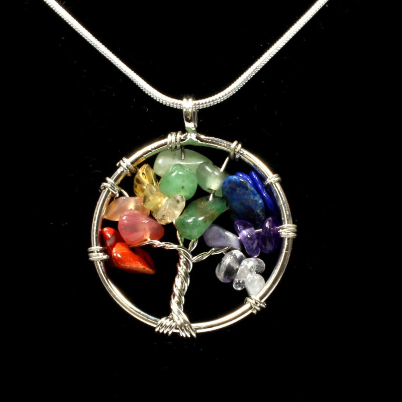 Chakra Tree Of Life Pendant With Chain