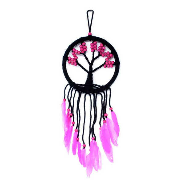 Tree of Life Dreamcatcher (16cm) - Pink
