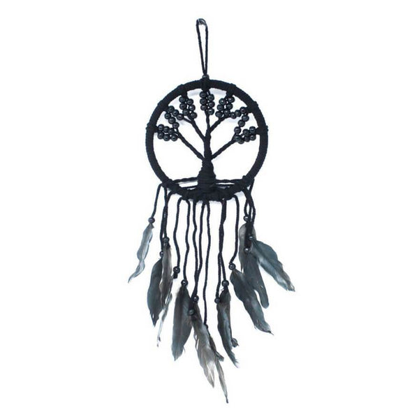 Tree of Life Dreamcatcher (16cm) - Black