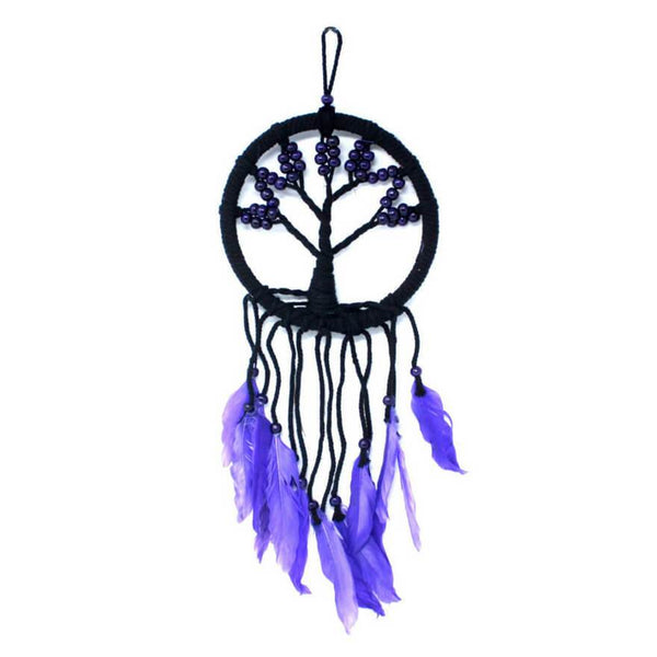 Tree of Life Dreamcatcher (16cm) - Purple