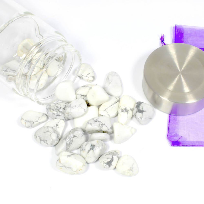 Crystal Water Bottle Pack - White Howlite for Patience and Peace