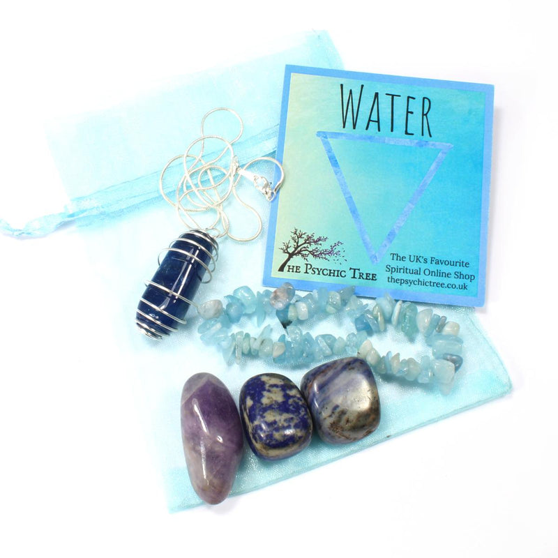 Water Element Bracelet, Crystal & Necklace Pack