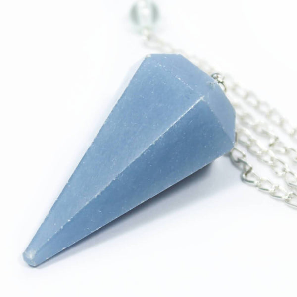 Angelite Faceted Cone Pendulum