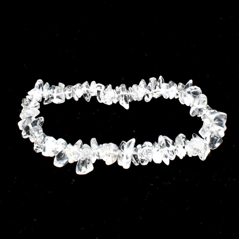 Clear Quartz Stone Chip Bracelet