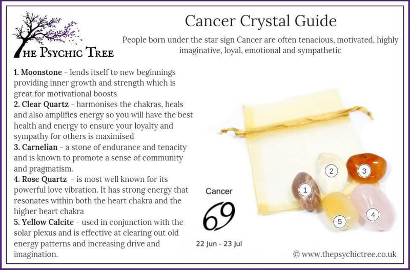 Cancer - Sign Of The Zodiac Healing Crystal Pack