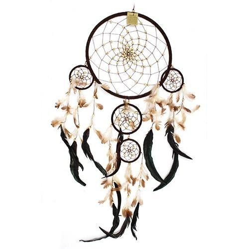 Large Bali Dreamcatcher - Chocolate