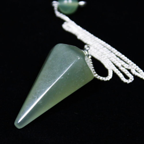 New Jade Faceted Cone Pendulum