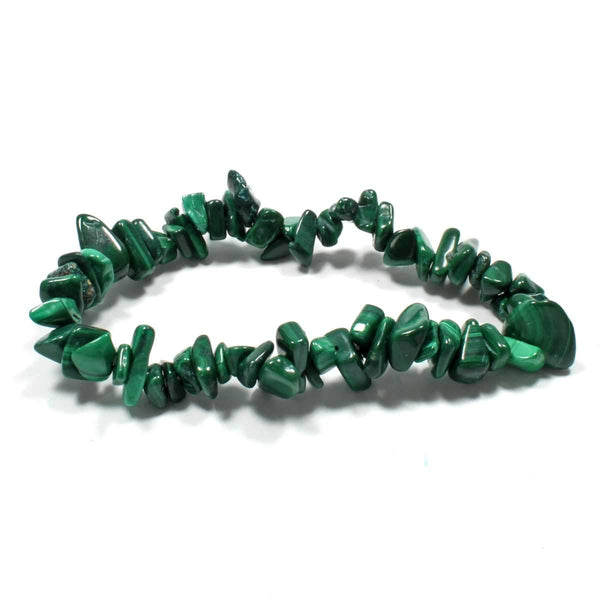 Malachite Stone Chip Bracelet